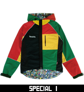 NYLON A/F HOODED JACKET MULTI COLOR