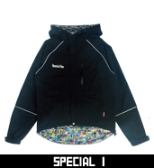 NYLON A/F HOODED JACKET