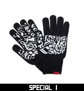 MUSIC NOTE KNIT GLOVE