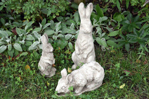 garden ornaments, Rabbits