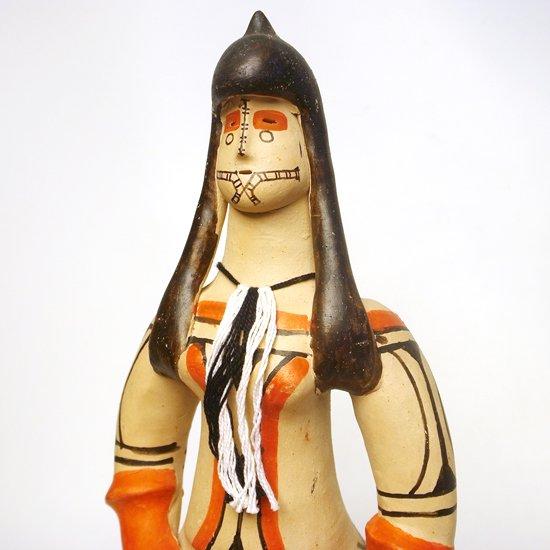ブラジルの先住民族 カラジャ族 の大きな土人形