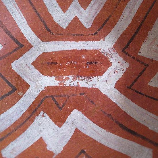 ヴィンテージアイテム:ボウル [シピーポ族]内側にも施された幾何学模様