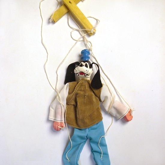 メキシコで作られたディズニーキャラクターがモチーフの古い操り人形