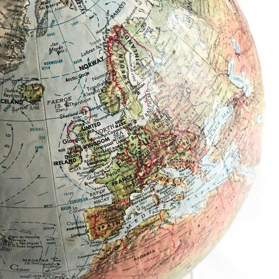 1970年代前半のアメリカ製の地球儀