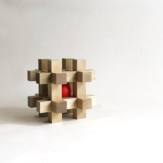 山中組木工房 : 玉入れ組木(赤) / 山中成夫