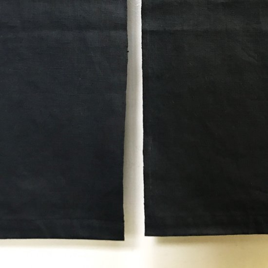 山内染色工房: のれん『A』/ 黒 × 緑