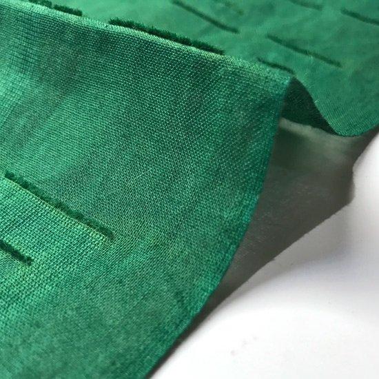 山内染色工房: 柔らかな素材の風呂敷『木葉』/ 緑