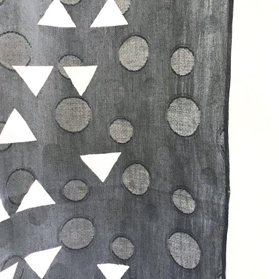 山内染色工房: 柔らかな素材の風呂敷『鱗』/ 灰