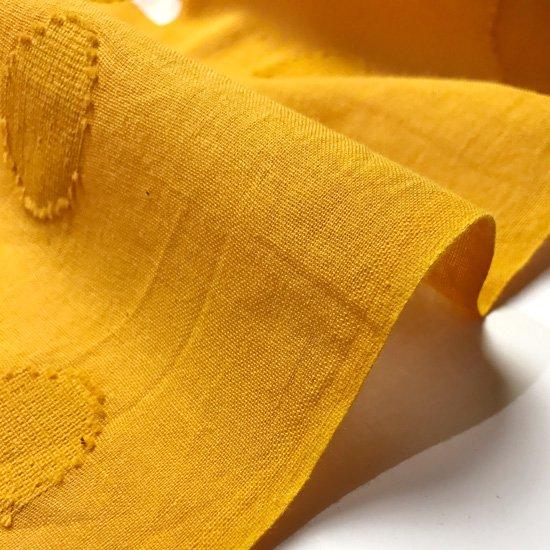 山内染色工房: 柔らかな素材の風呂敷『線と水玉』/ 黄