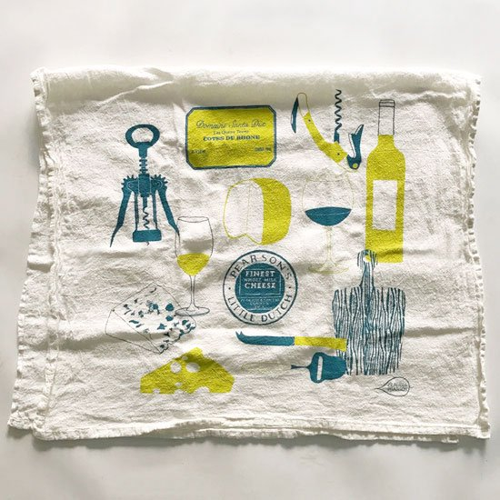 Wine And Cheese Towel