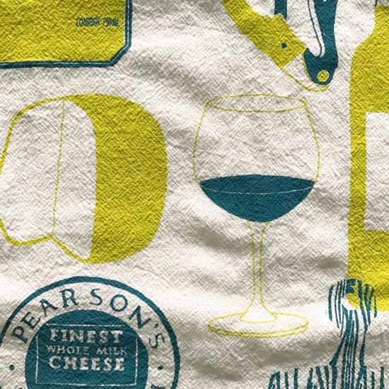 ワインとチーズのイラスト