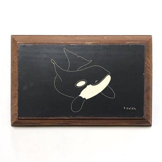 カナダのアーティストによるスクラッチボードを用いた古いアート作品