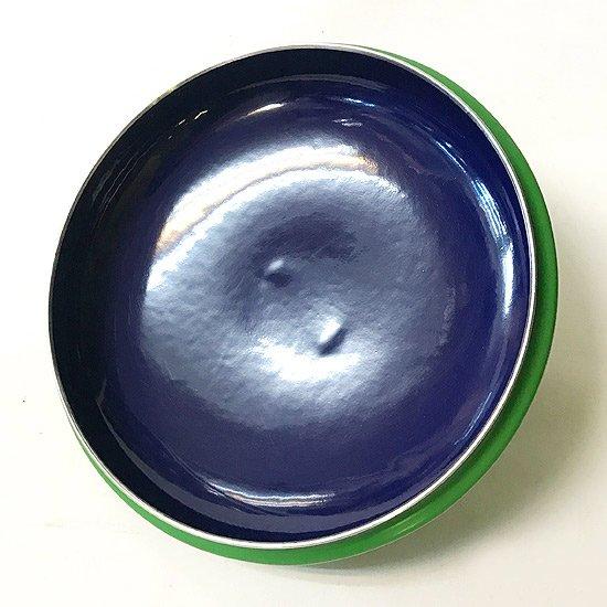 カール・オーボックデザインの琺瑯の蓋つきの鍋