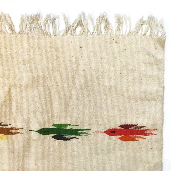 1970年代にメキシコのオアハカで織られたウールのラグ