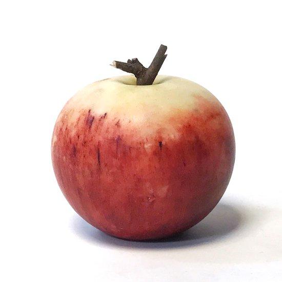 イタリアの伝統工芸である大理石細工によるう古いりんごのオブジェ