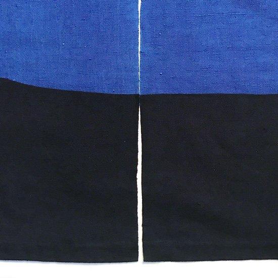 山内染色工房: のれん『3』/  紺 × 青