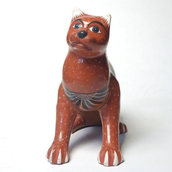 メキシコの陶器の有名な街トナラで1980年代に作られたネコがモチーフの陶器のオブジェ
