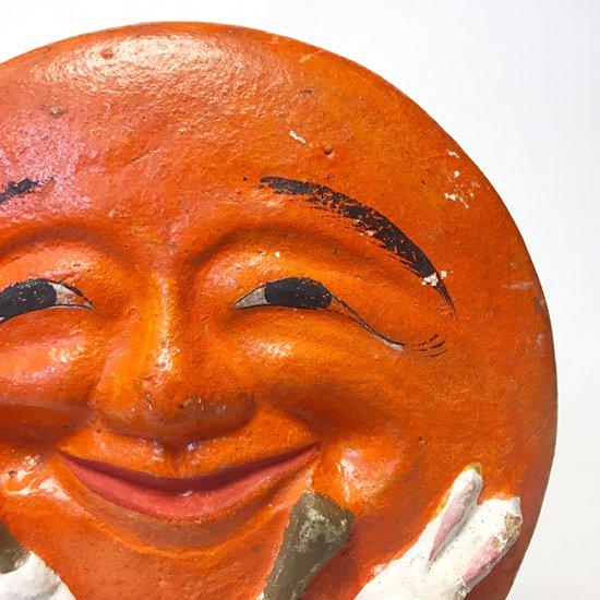 山形県の郷土玩具、戦前の酒田土人形の名作「月見うさぎ」