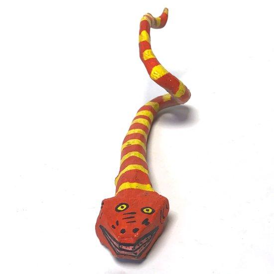 メキシコのオアハカを代表するフォークアート ウッドカービング のスネーク