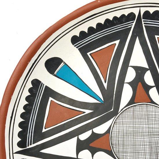 1970年代メキシコの陶器の有名な町トナラで作られたとても雰囲気の良い絵皿