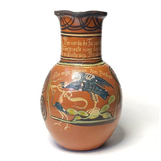 1970年代メキシコのメテペックで作られた大きな陶器のピッチャー