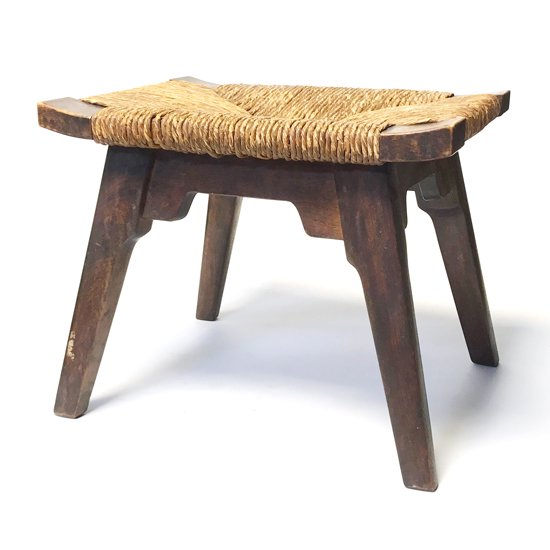 松本民芸家具の古いスツール「514型 ラッシスツール」