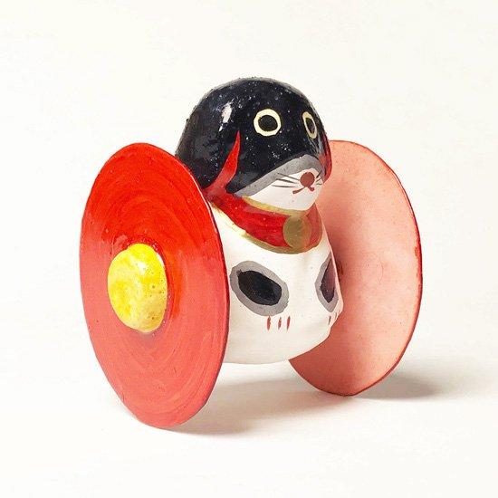 静岡県の郷土玩具、浜松張り子4代目 二橋加代による古い戌のころがし