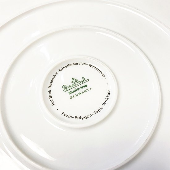 Rosenthal で1970年代に作られていた Winterreise シリーズの大皿