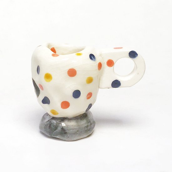 Echo Park Pottery: Polka Dot Cup S