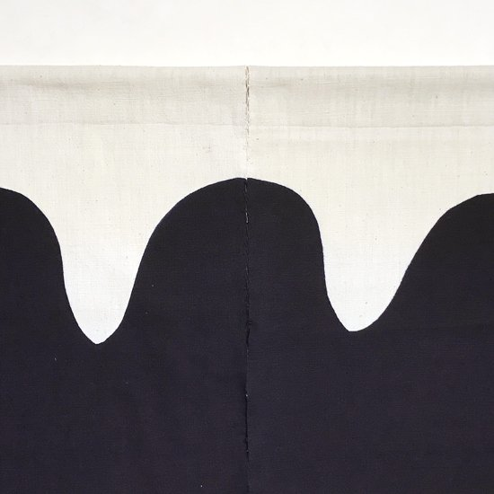 山内染色工房: のれん『山』/  黒(濃紺)