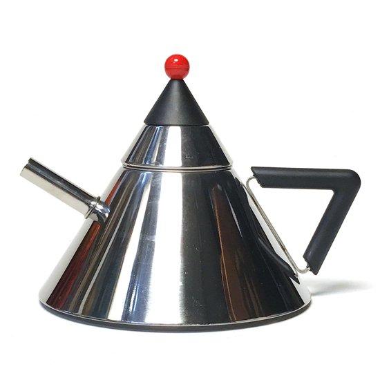 1980年代に日本で作られていた、ポストモダンを彷彿とさせるデザインのステンレス製のティーポット