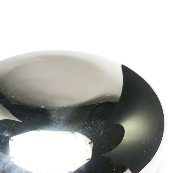 渡辺力氏 が1970年代にデザインをした「ラストロウェア」シリーズの一つ、ステンレス製の灰皿