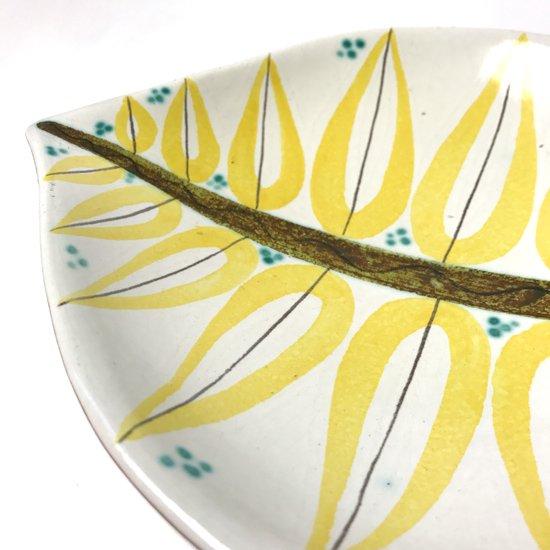 Vintage Ceramic:  Fajans Leaf Plate / Stig Lindberg