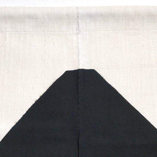 山内染色工房: のれん『富士山』/ 黒
