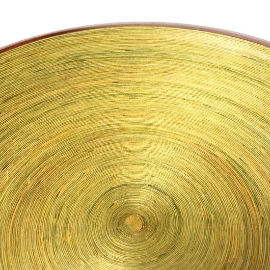 内側以外が染色されている珍しい千巻のボウル