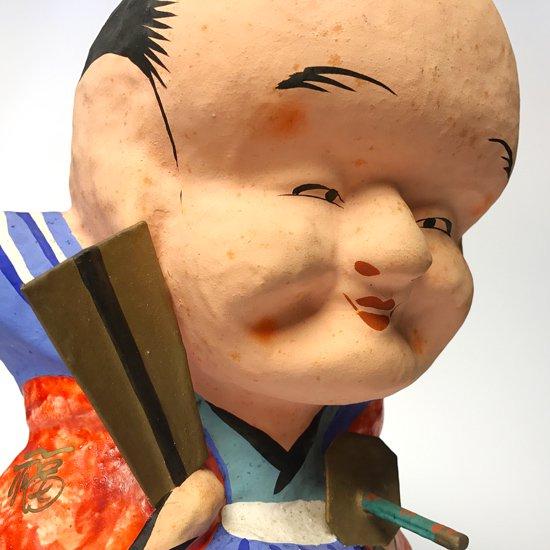 福島の郷土玩具。珍しい、とても大きな福助人形の三春張子