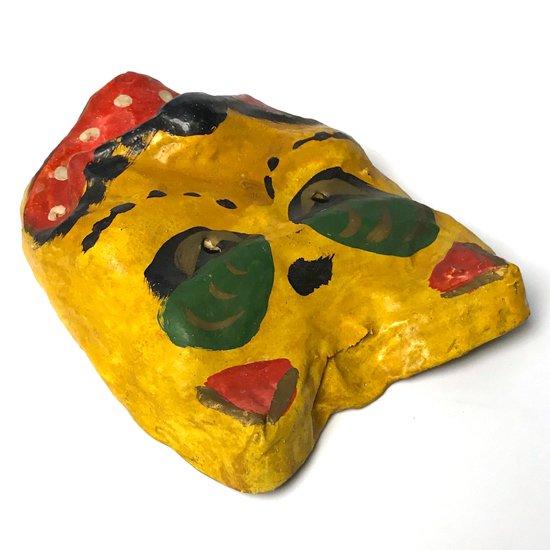 人間国宝 宮内フサ による、古い 高松張子 の虎のお面