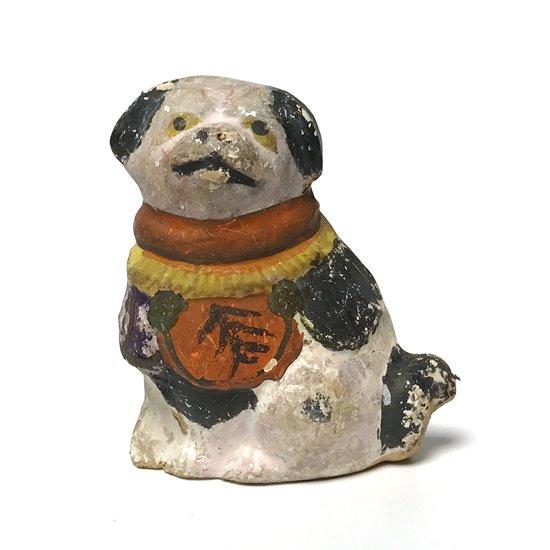 岡山県の郷土玩具、犬がモチーフの古い久米土人形
