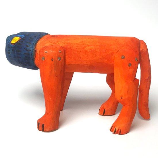 ウッドカービング / ブルーヘッドライオン