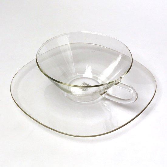 ドイツのガラスメーカー イエナグラス社 で作られていた耐熱ガラスのカップアンドソーサー