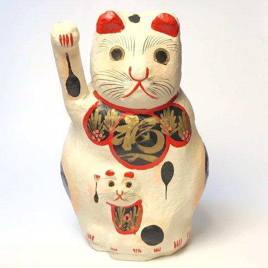 高崎市豊岡で作られている張子細工。豊岡の招き猫の特大サイズのヴィンテージ品