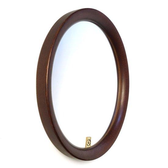 柳宗理氏 が1970年代に秋田の木工家具メーカー 秋田木工 のためにデザインをした古い壁掛けの鏡