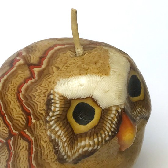 1980年代アメリカのサンフランシスコにあるキャンドルメーカーが製作していたフクロウのキャンドル