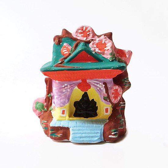 桜の木を取り入れたデザインが特徴的な青森県の郷土玩具 下川原焼 の堂内天神