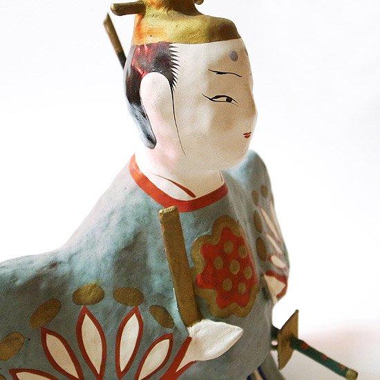 福島の郷土玩具。とても大きな三春張子の内裏雛