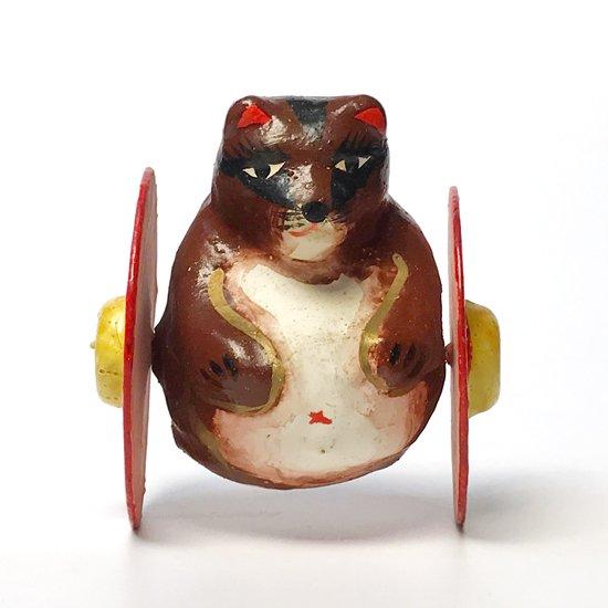 静岡県の郷土玩具、浜松張り子の古いたぬきのころがし