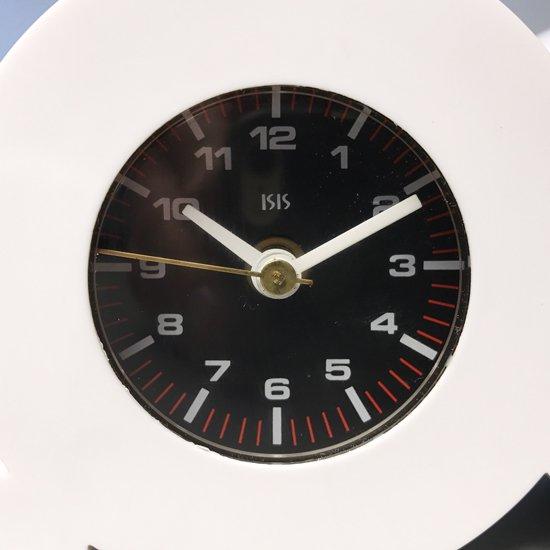 1980年代アメリカの時代背景が感じられるデザインの置き時計