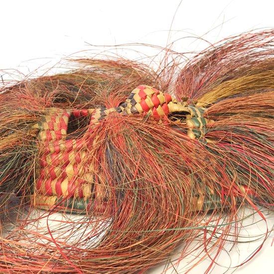 1970年代メキシコのゲレロで作られた特徴的なデザインの藁細工のマスク