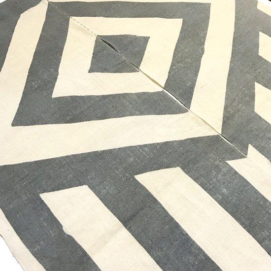 のれん『幾何学』/ 墨灰
