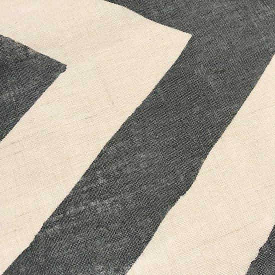 山内染色工房: のれん『幾何学』/ 墨灰